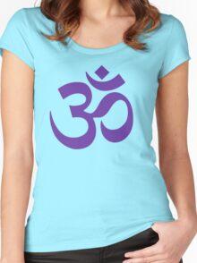 PURPLE OM Women's Fitted Scoop T-Shirt