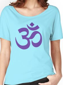 PURPLE OM Women's Relaxed Fit T-Shirt