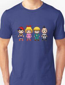 Earthbound Pixels - Ness, Paula, Jeff & Poo Unisex T-Shirt