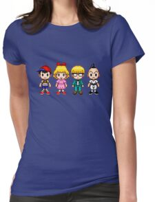Earthbound Pixels - Ness, Paula, Jeff & Poo Womens Fitted T-Shirt