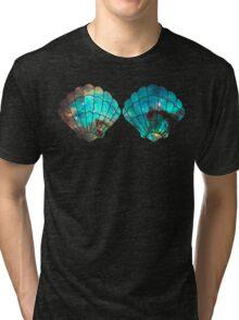 Green Galaxy Mermaid (V-Neck) Tri-blend T-Shirt