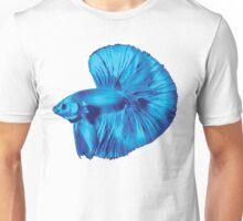 Blue Halfmoon Betta Splenden Unisex T-Shirt