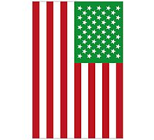 US Flag Italy Photographic Print