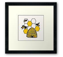 Bee-Shirt Framed Print