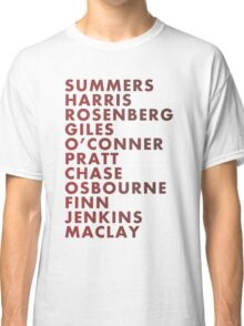 Buffy The Vampire Slayer All Business Surnames Classic T-Shirt