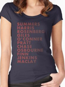 Buffy The Vampire Slayer All Business Surnames Women's Fitted Scoop T-Shirt