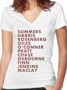 Buffy The Vampire Slayer All Business Surnames Women's Fitted V-Neck T-Shirt