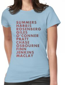 Buffy The Vampire Slayer All Business Surnames Womens Fitted T-Shirt