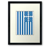 US Flag Greece Framed Print