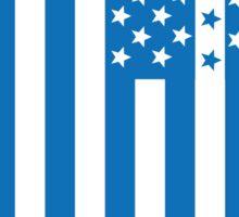 US Flag Greece Sticker