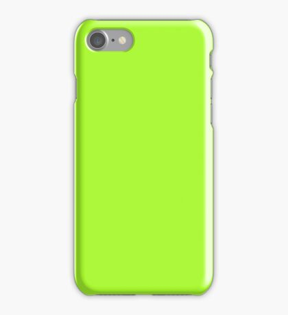 PURE COLOR-GREEN YELLOW iPhone Case/Skin