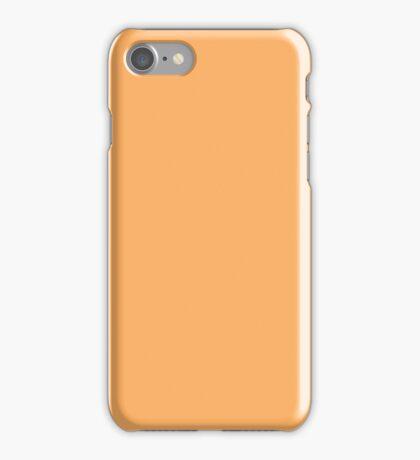 PURE COLOR-HONEY ORANGE iPhone Case/Skin