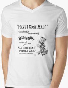 Alice in Wonderland Quote Mens V-Neck T-Shirt