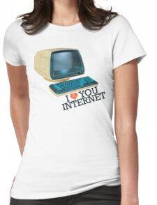 Internet Retro Love Womens Fitted T-Shirt