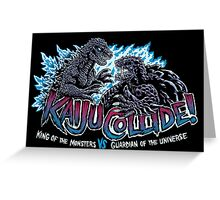 Kaiju Collide Greeting Card