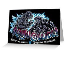 Kaiju Collide Greeting Card
