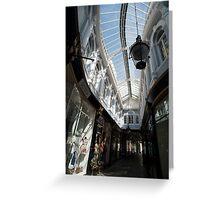 cardiff arcade roof Greeting Card