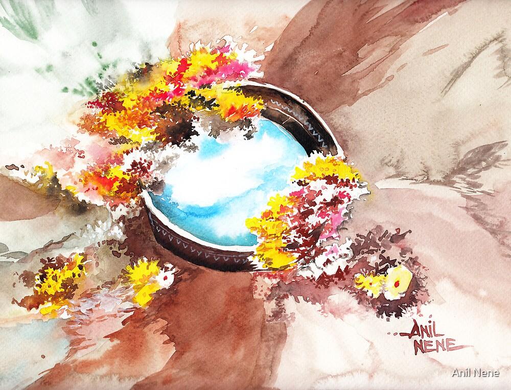 Flowers n sky by Anil Nene