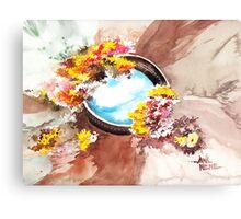 Flowers n sky Canvas Print