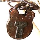 Padlock close up high key image by buttonpresser