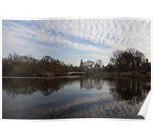 New York City Central Park Bow Bridge Quiet Reflections Poster