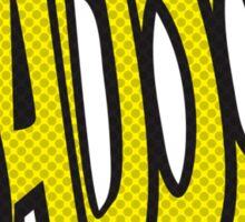 Action stations – badoom! Sticker