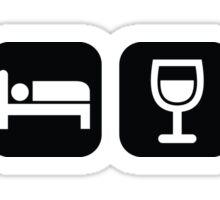 Eat Sleep Wine Repeat  Sticker
