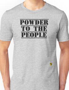 Powder to the people - Black - Rave Veteran T-Shirt