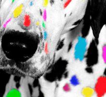 Multi-coloured Dalmatian Sticker