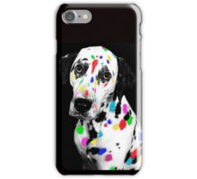 Multi-coloured Dalmatian iPhone Case/Skin
