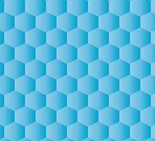 gradient blue hexagon pattern background by elgreko