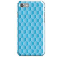gradient blue hexagon pattern background iPhone Case/Skin