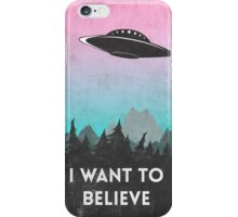 I want to believe UFO1 iPhone Case/Skin