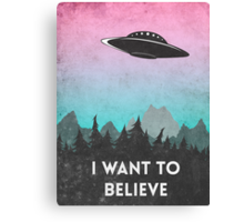 I want to believe UFO1 Canvas Print
