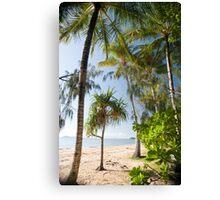 tropical beachfront Canvas Print