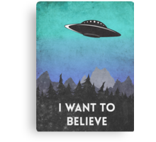 I want to believe UFO2 Canvas Print