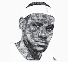 Lebron James typography portrait by EversonInd
