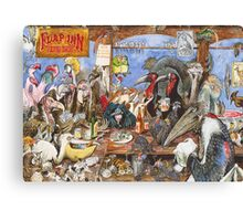 The bird bar Canvas Print