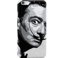 Salvador Dali Black Portrait iPhone Case/Skin