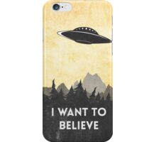 I want to believe UFO3 iPhone Case/Skin