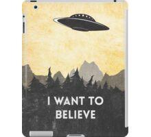 I want to believe UFO3 iPad Case/Skin