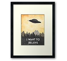 I want to believe UFO3 Framed Print