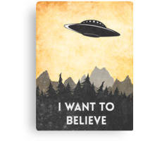 I want to believe UFO3 Canvas Print