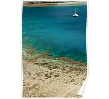 Yacht off Yasawa island Poster