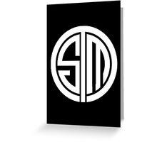 Team SoloMid Logo (WHT) Greeting Card