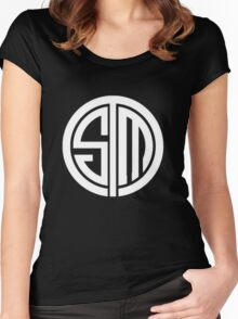 Team SoloMid Logo (WHT) Women's Fitted Scoop T-Shirt