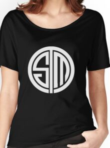 Team SoloMid Logo (WHT) Women's Relaxed Fit T-Shirt