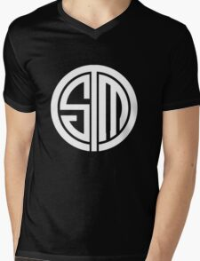 Team SoloMid Logo (WHT) Mens V-Neck T-Shirt