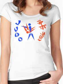 judo Women's Fitted Scoop T-Shirt