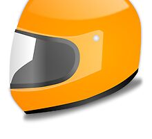 Orange Motorcycle Helmet by kwg2200